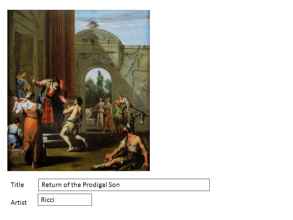 Title Artist Return of the Prodigal Son Ricci