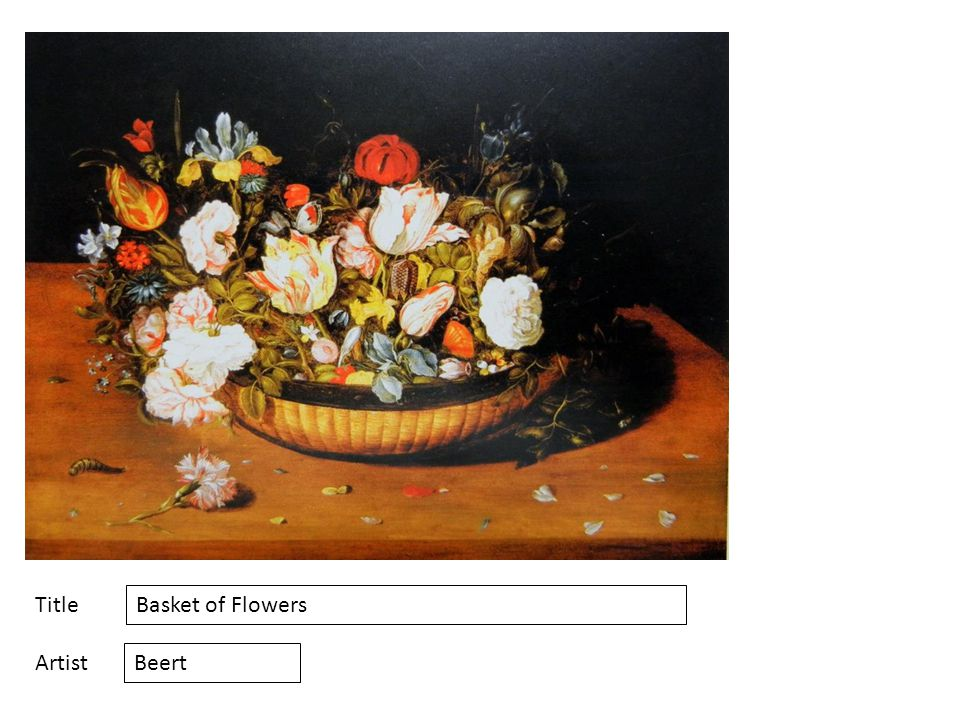 Title Artist Basket of Flowers Beert