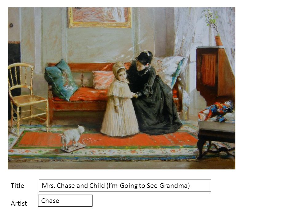 Title Artist Mrs. Chase and Child (I'm Going to See Grandma) Chase