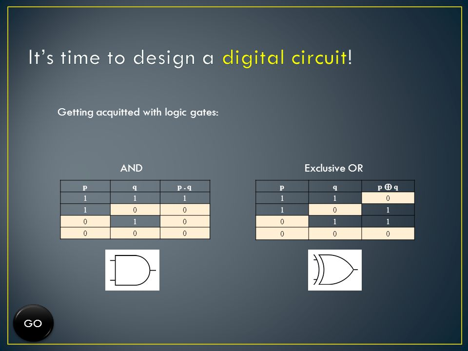 It's time to design a digital circuit!