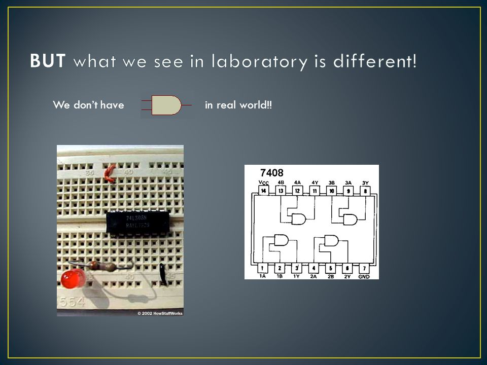 BUT what we see in laboratory is different!