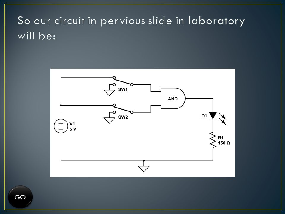 So our circuit in pervious slide in laboratory will be: