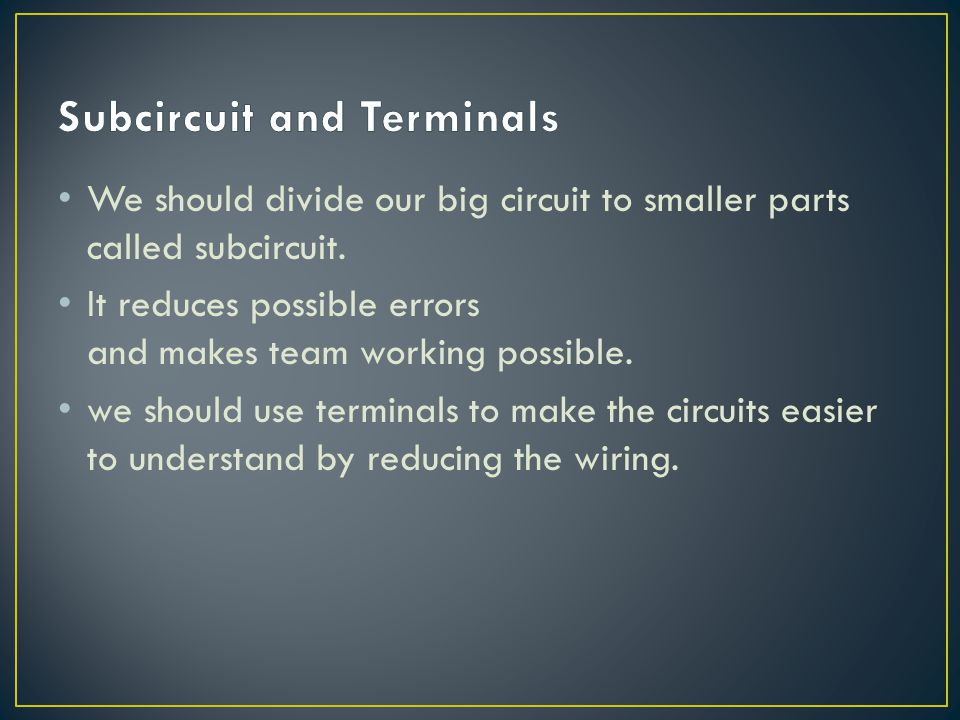 Subcircuit and Terminals