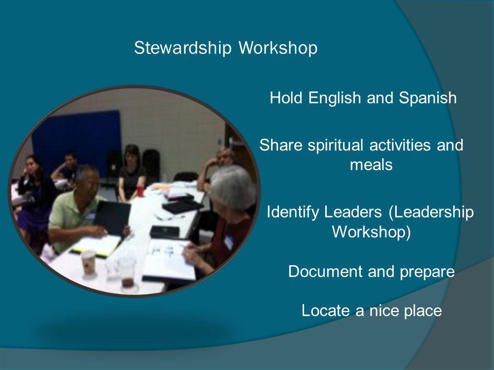 Stewardship Workshop Hold English and Spanish