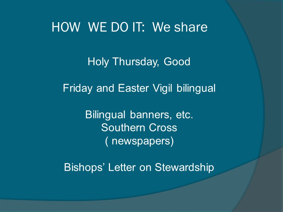 HOW WE DO IT: We share Holy Thursday, Good