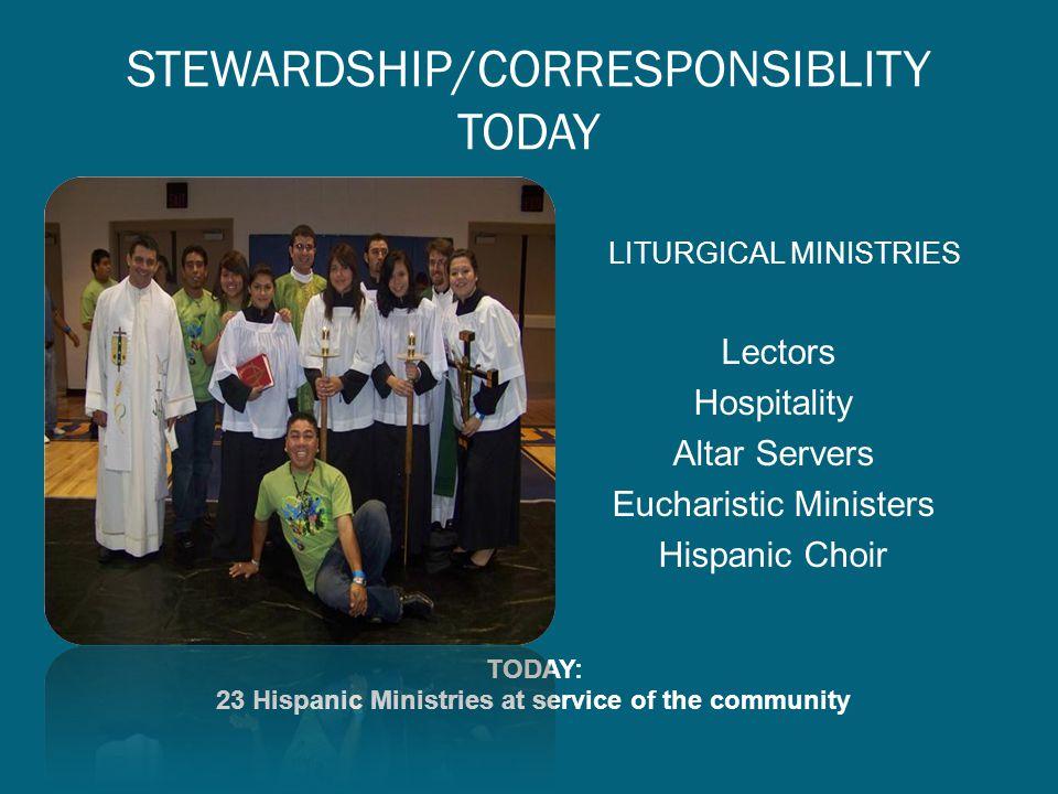 STEWARDSHIP/CORRESPONSIBLITY TODAY