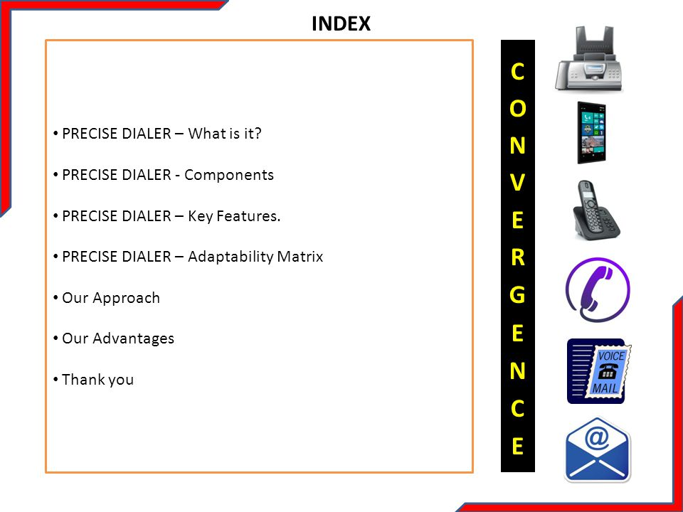 CONVERGENCE INDEX PRECISE DIALER – What is it