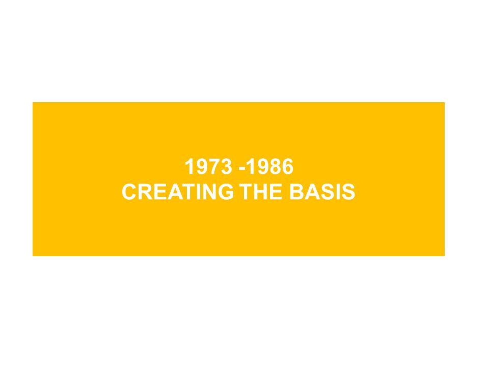 1973 -1986 creating the basis