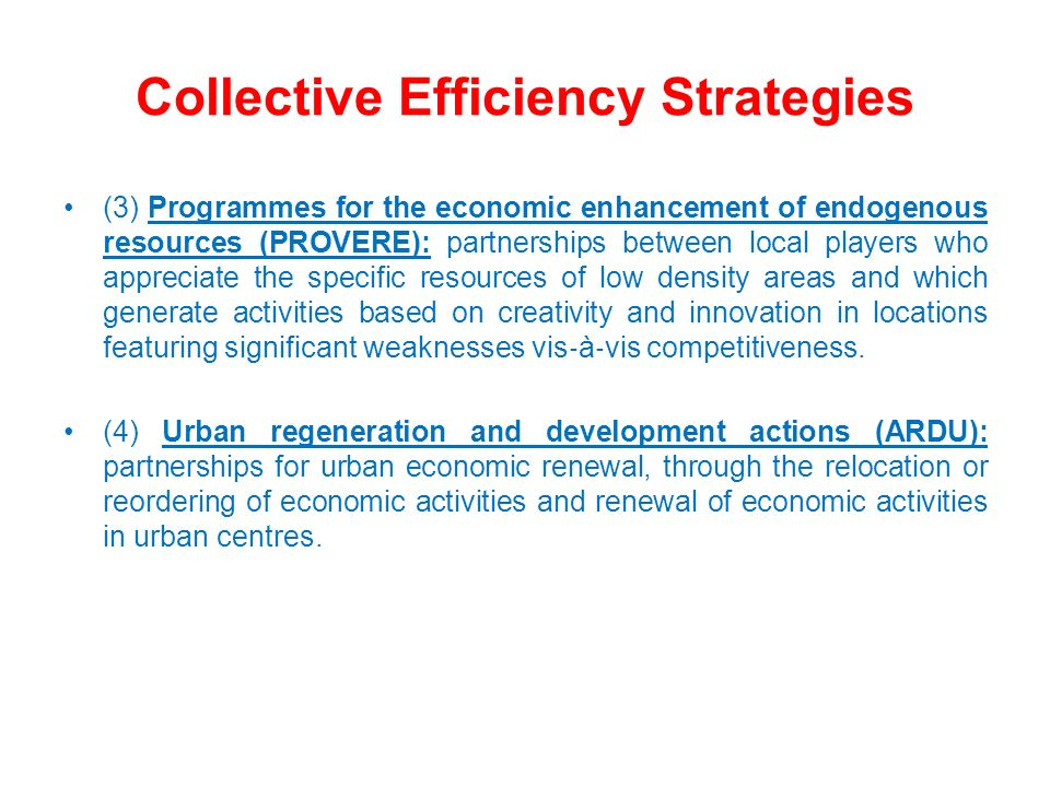 Collective Strategy Development Sample