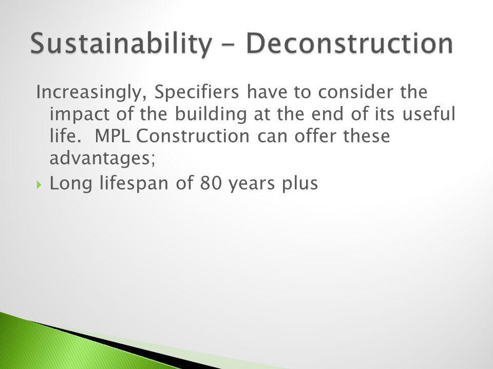 Sustainability - Deconstruction