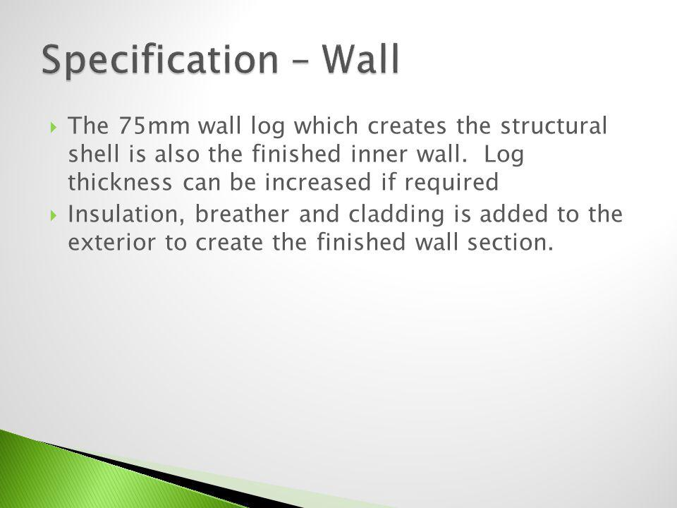 Specification – Wall