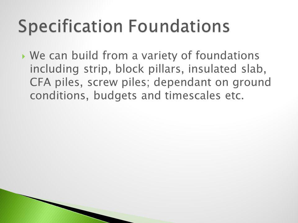 Specification Foundations