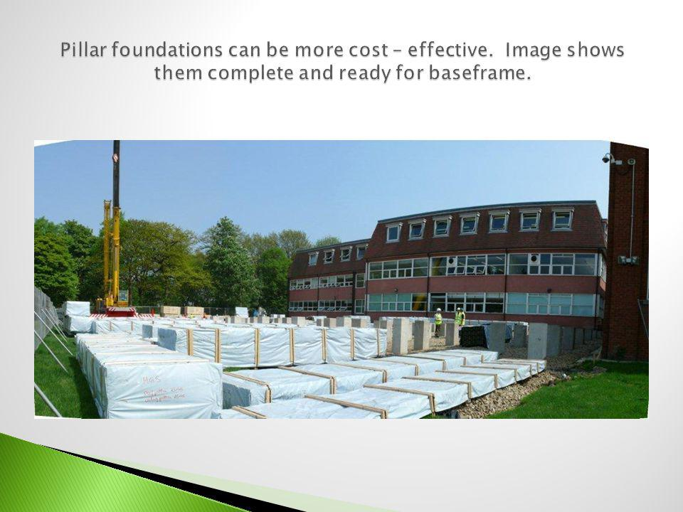 Pillar foundations can be more cost – effective