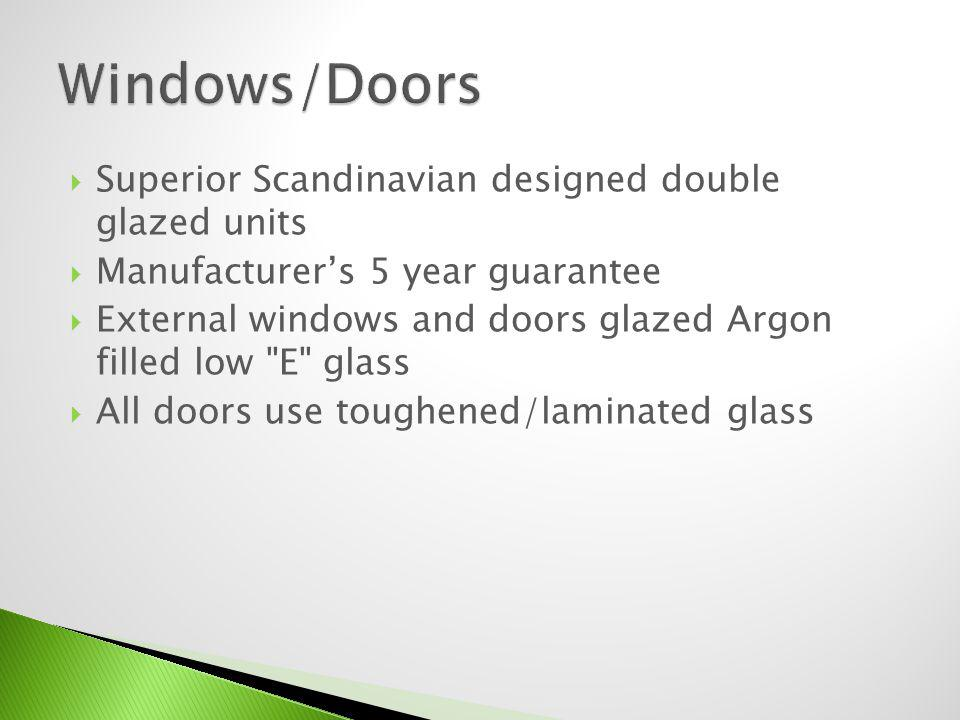 Windows/Doors Superior Scandinavian designed double glazed units