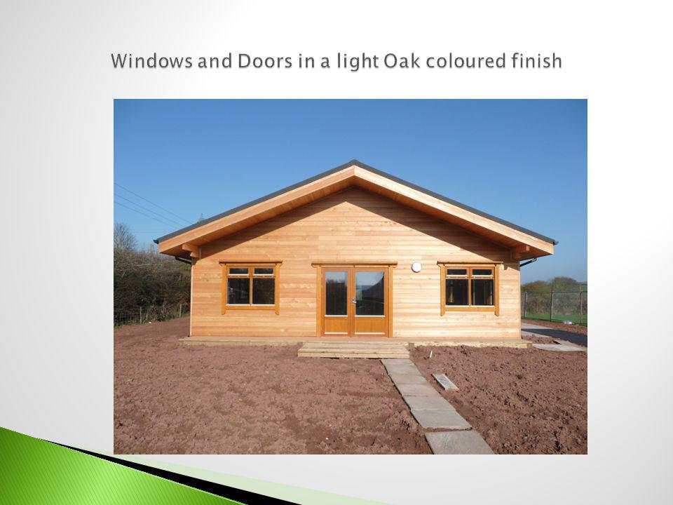 Windows and Doors in a light Oak coloured finish