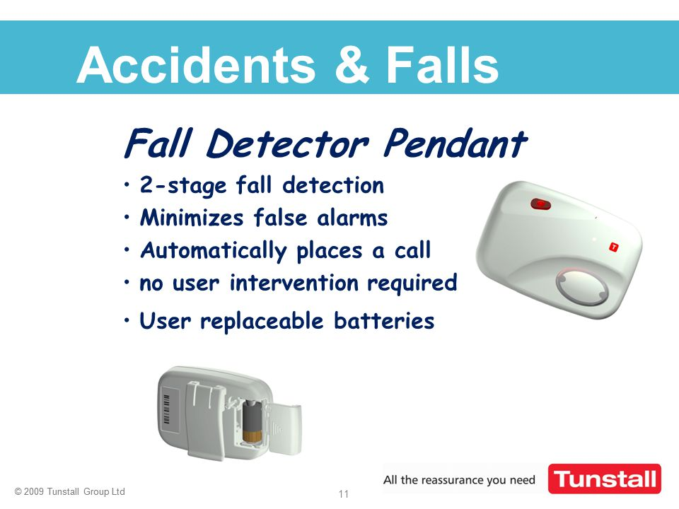 Accidents & Falls Fall Detector Pendant 2-stage fall detection