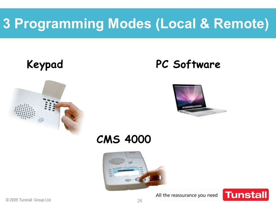 3 Programming Modes (Local & Remote)