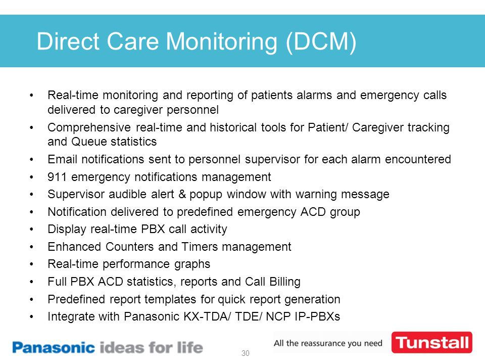 Direct Care Monitoring (DCM)