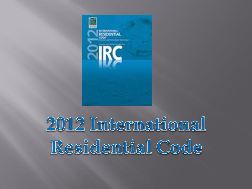 2012 International Residential Code