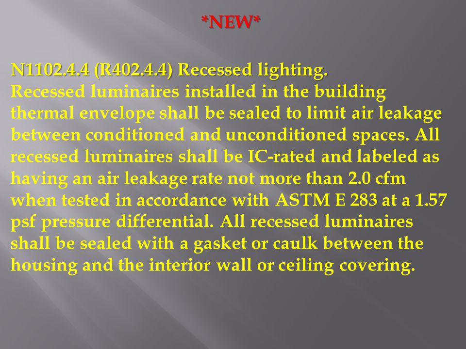 *NEW* N1102.4.4 (R402.4.4) Recessed lighting.