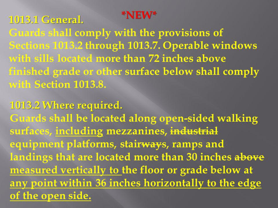 *NEW* 1013.1 General.