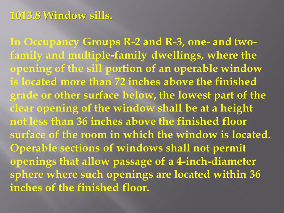 1013.8 Window sills.