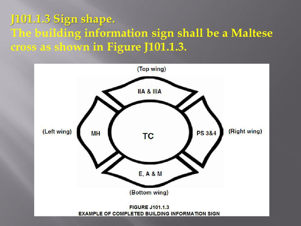 J101.1.3 Sign shape.