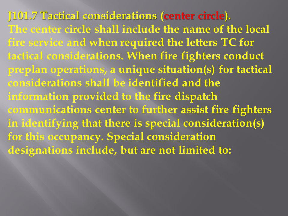 J101.7 Tactical considerations (center circle).