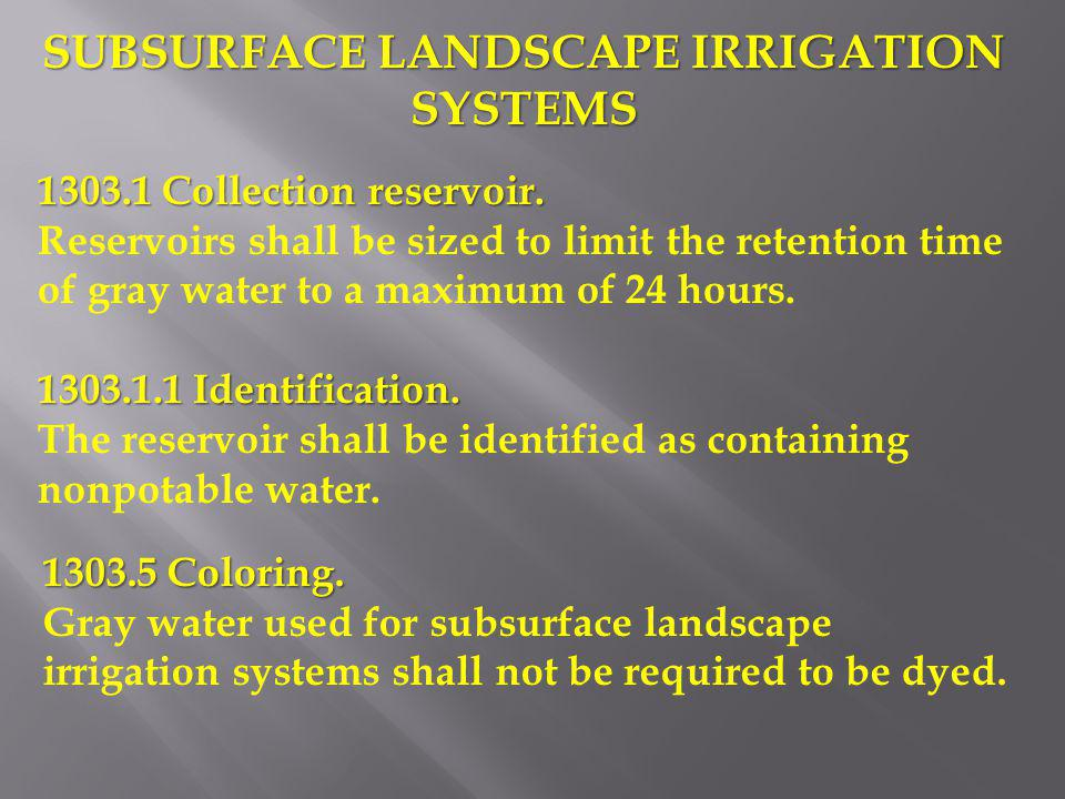 SUBSURFACE LANDSCAPE IRRIGATION SYSTEMS
