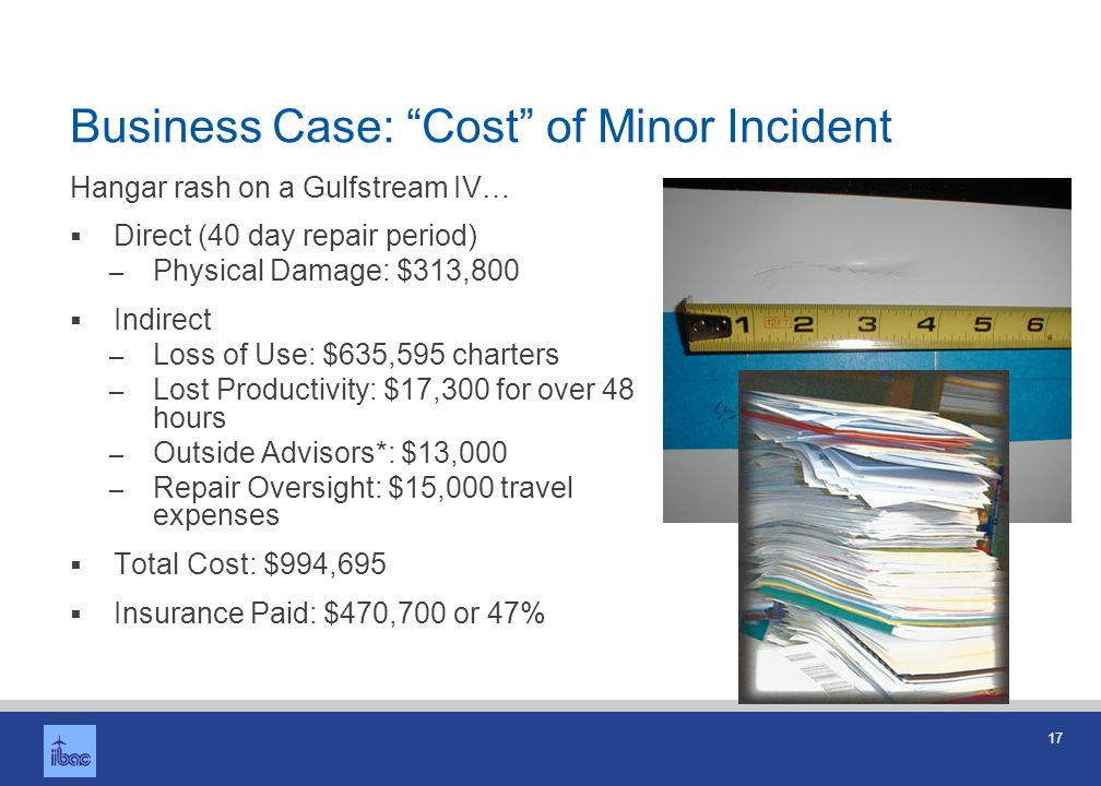 Business Case: Cost of Major Accident