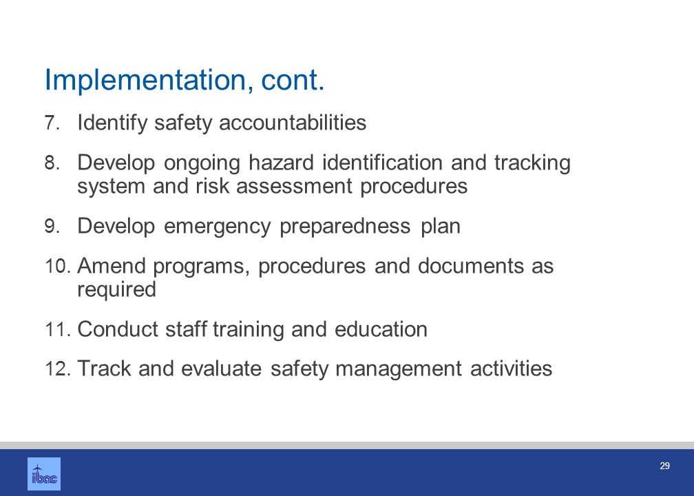 Summary SMS is new way of thinking about safety What is my risk