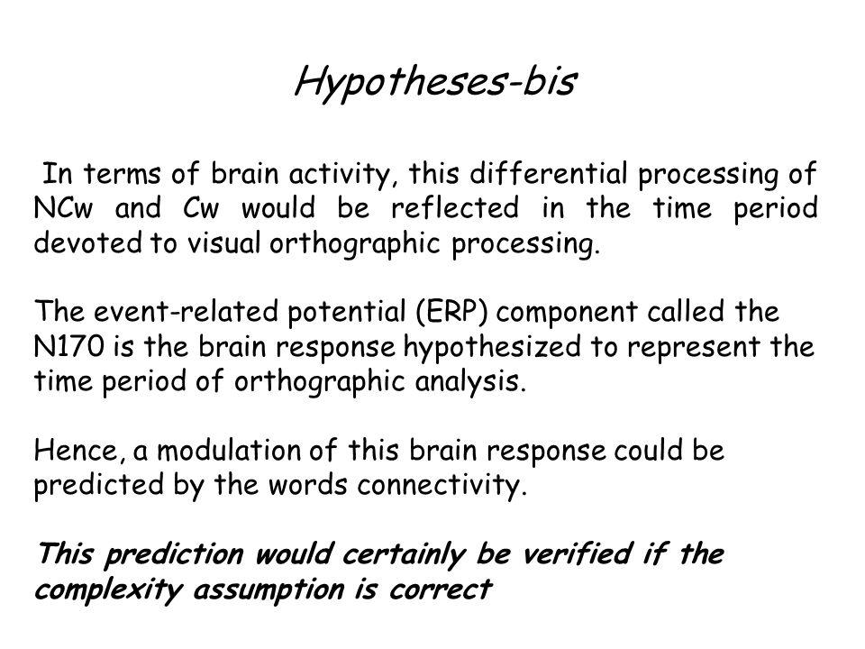 Hypotheses-bis