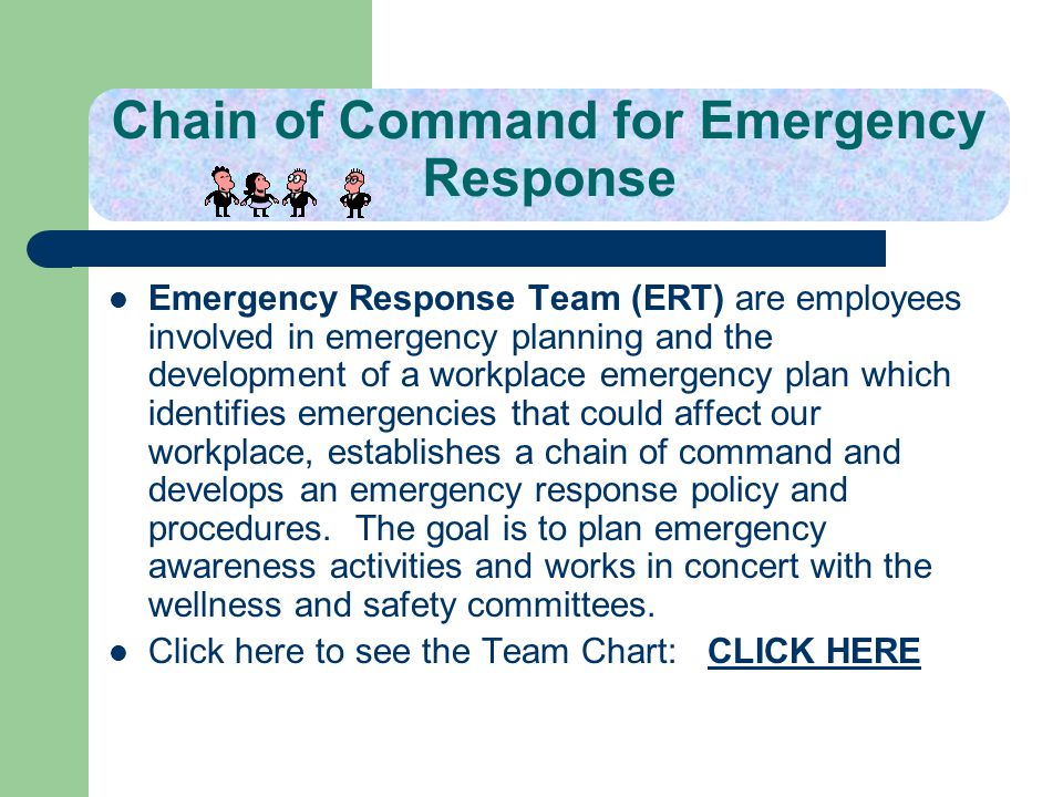 Chain of Command for Emergency Response