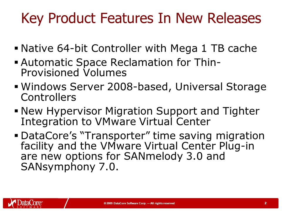 Key Product Features In New Releases
