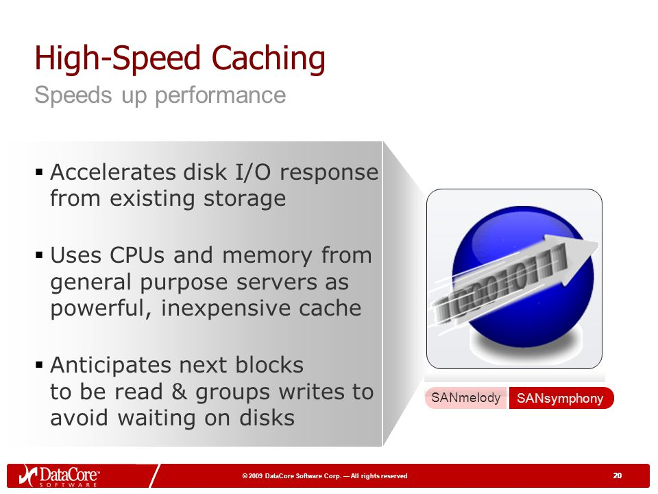 High-Speed Caching Speeds up performance
