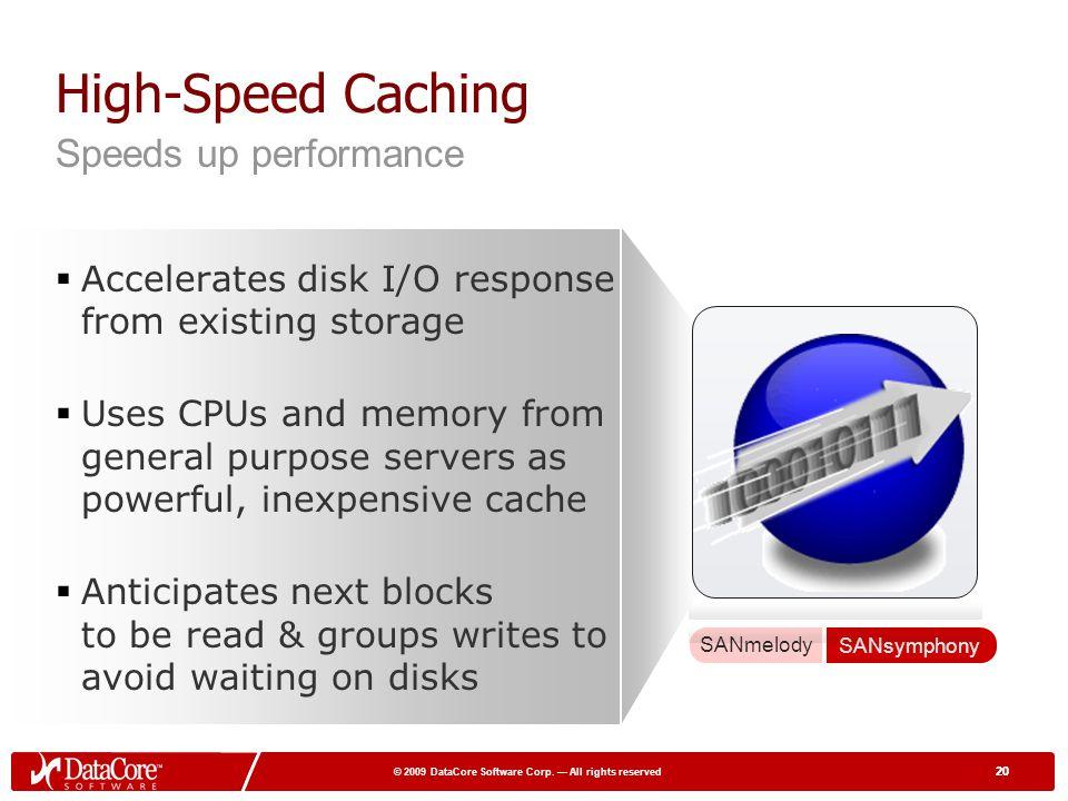 High-Speed Caching Speeds up performance