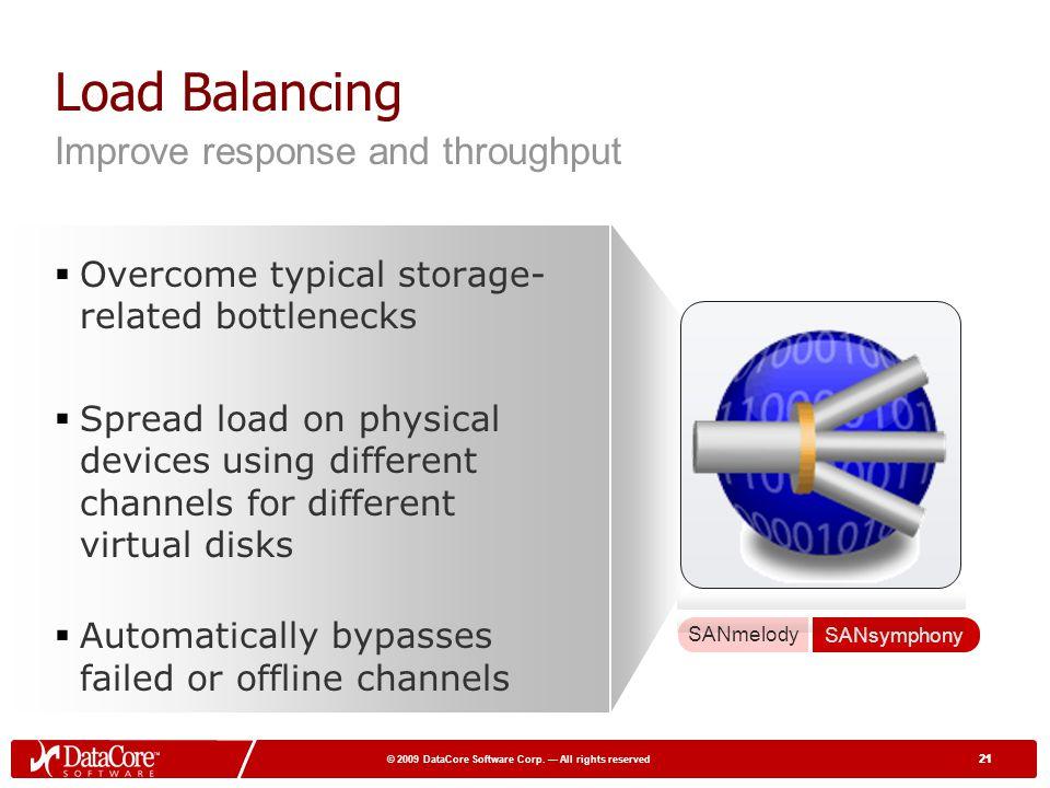 Load Balancing Improve response and throughput