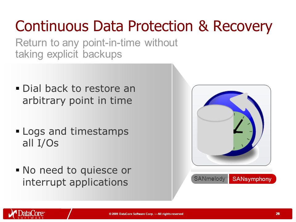 Continuous Data Protection & Recovery