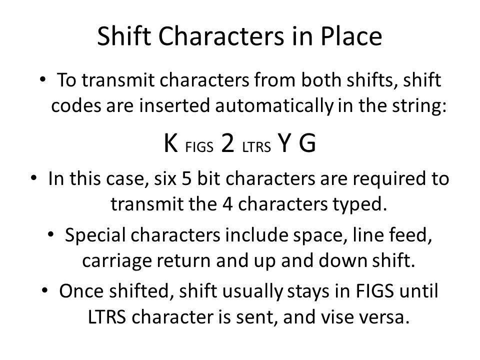 Shift Characters in Place