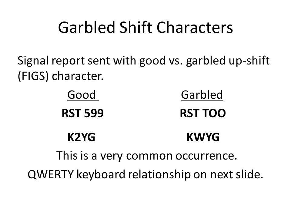 Garbled Shift Characters