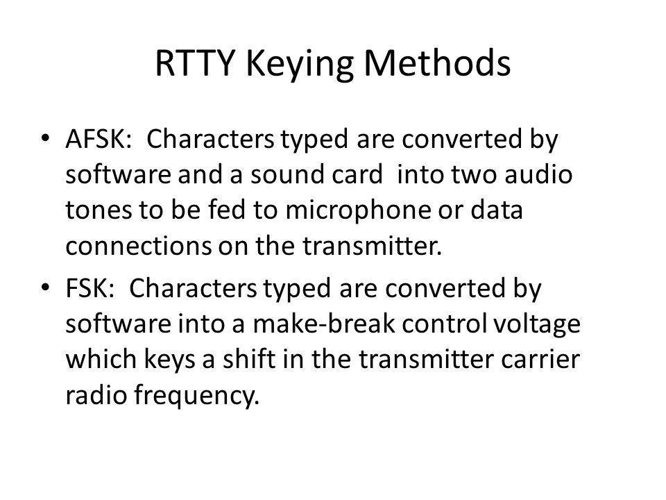 RTTY Keying Methods