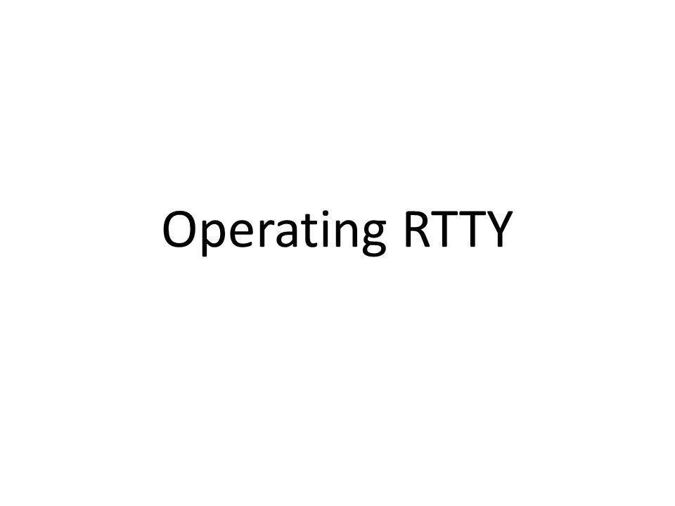 Operating RTTY