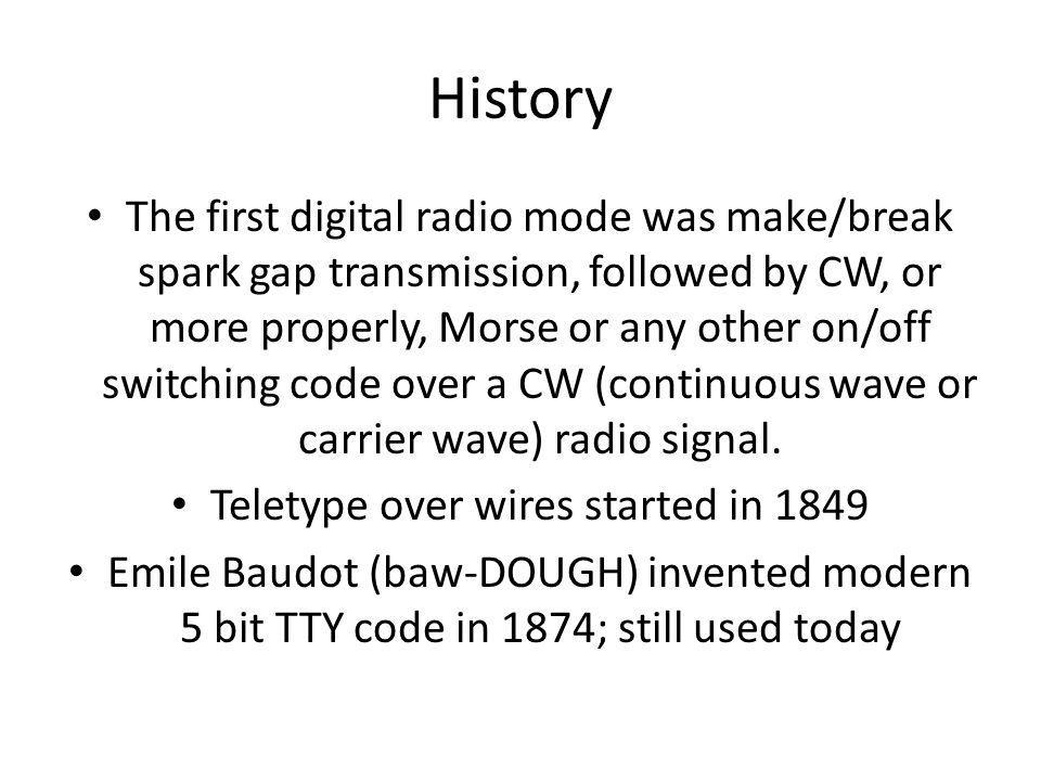 Teletype over wires started in 1849