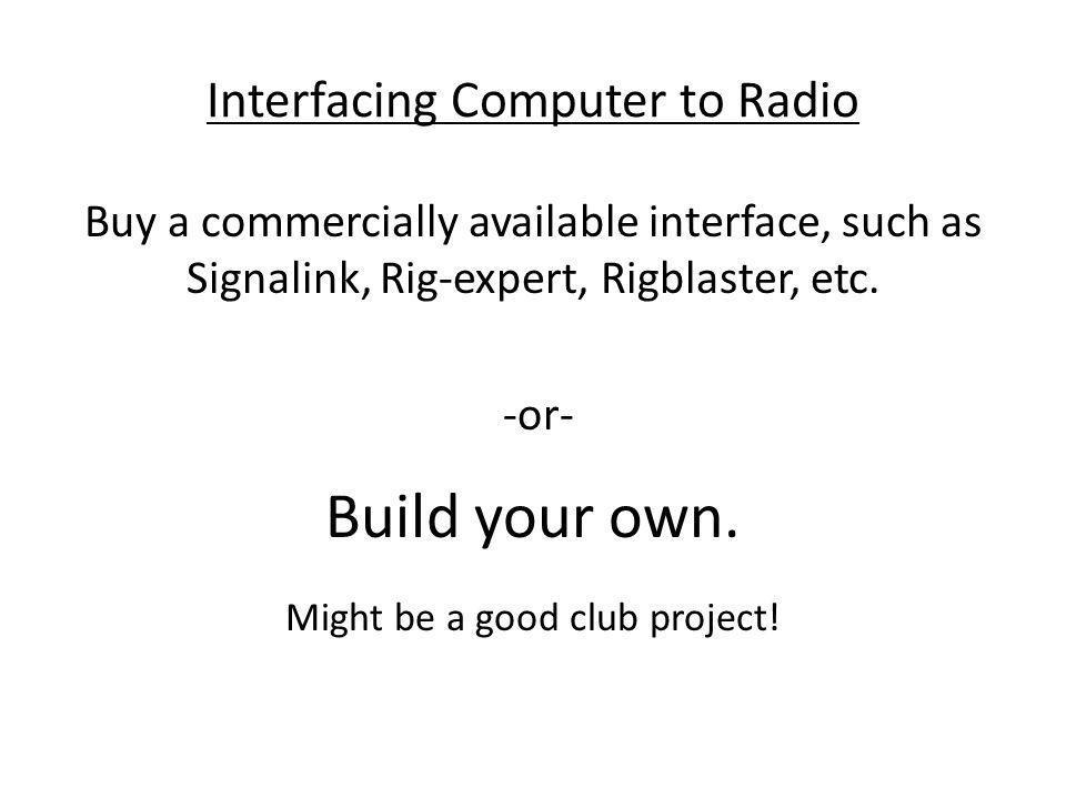 Interfacing Computer to Radio