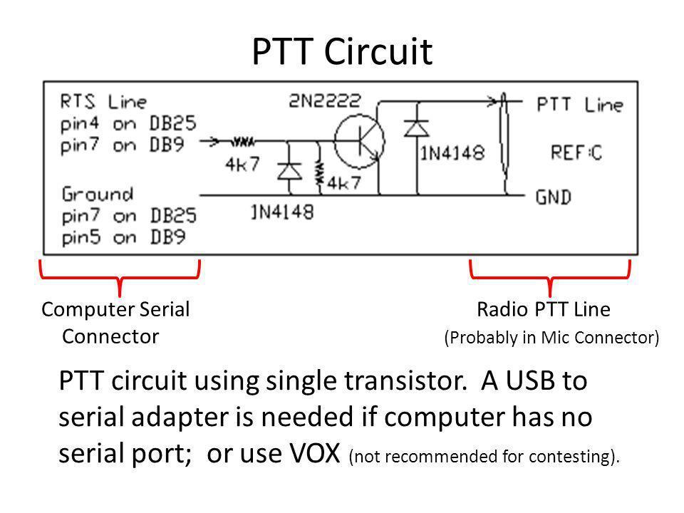 PTT Circuit Computer Serial Radio PTT Line.