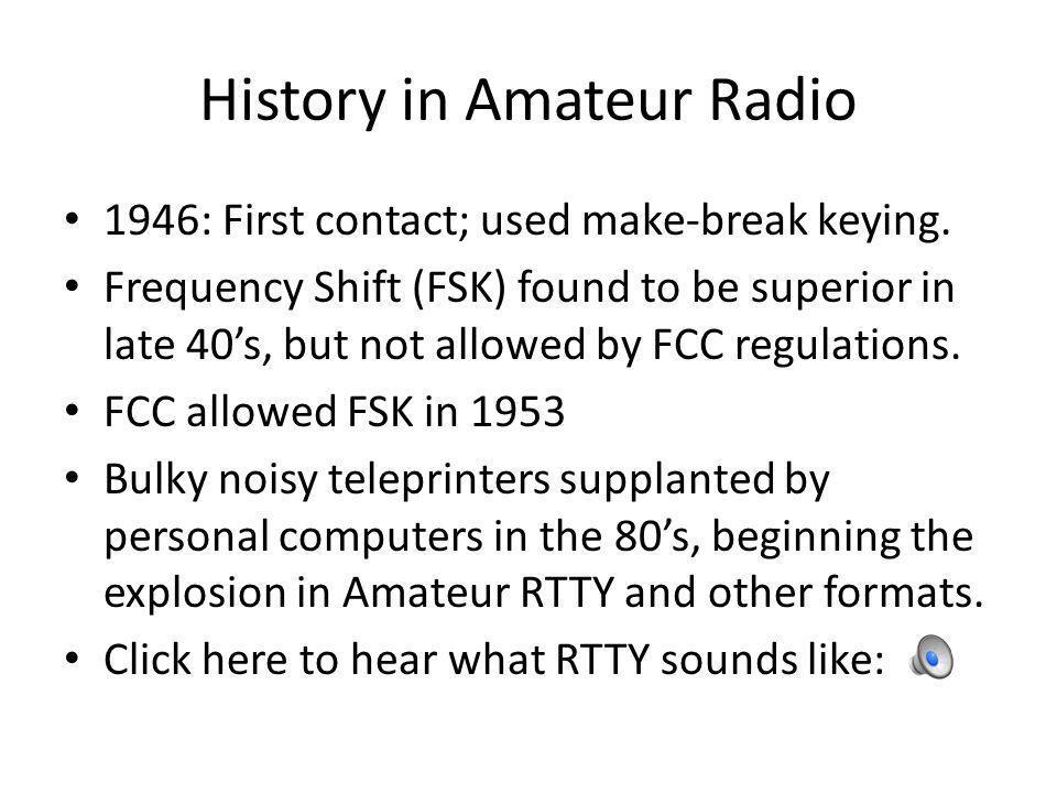 History in Amateur Radio