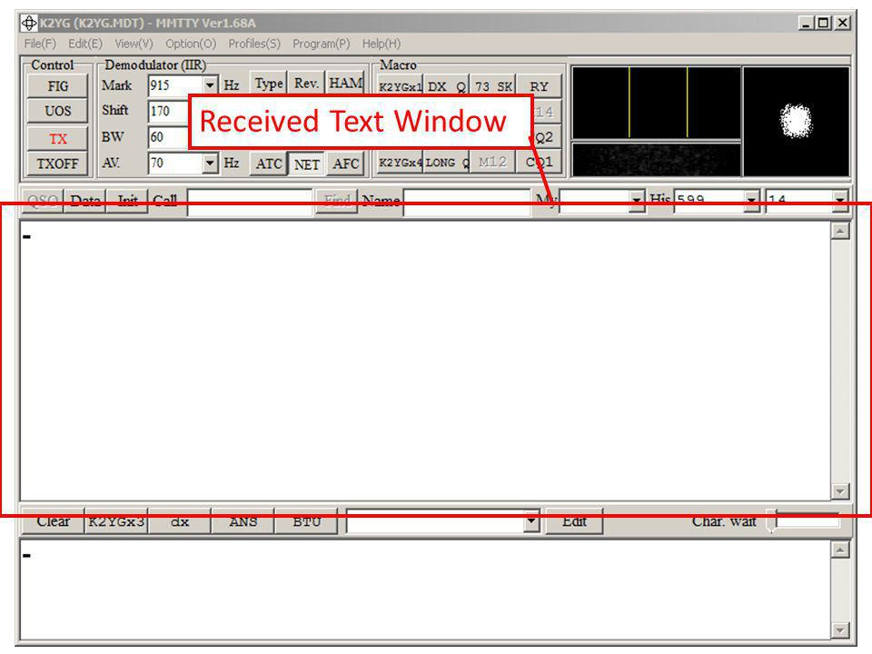 Received Text Window