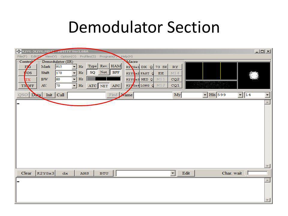 Demodulator Section
