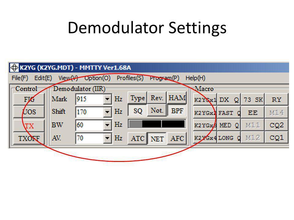 Demodulator Settings