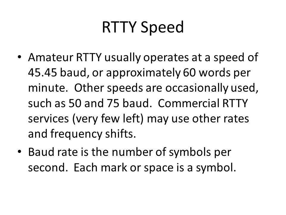 RTTY Speed